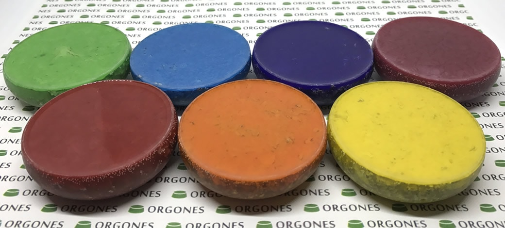 Orgones 7 Piece Record-Keeper Orgonite Chakra Set